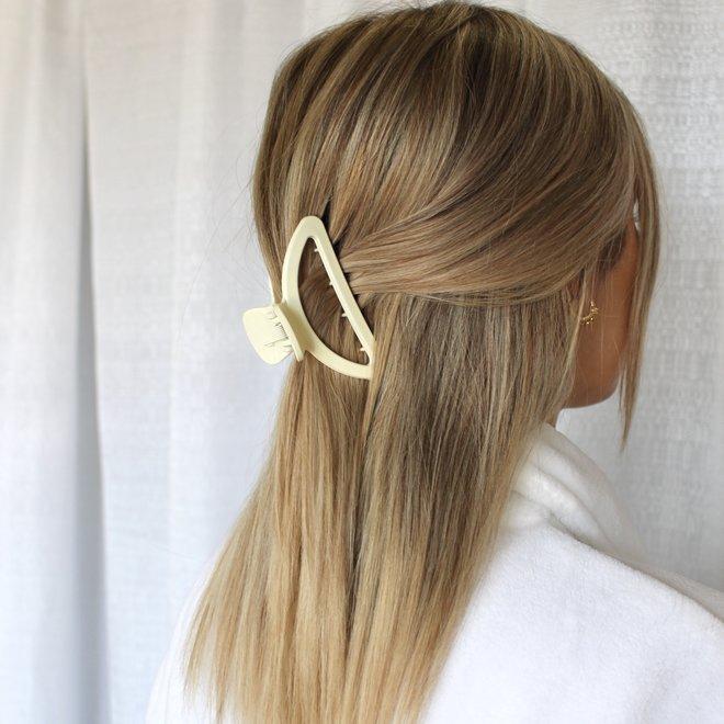 Pince à cheveux lune - Blanc