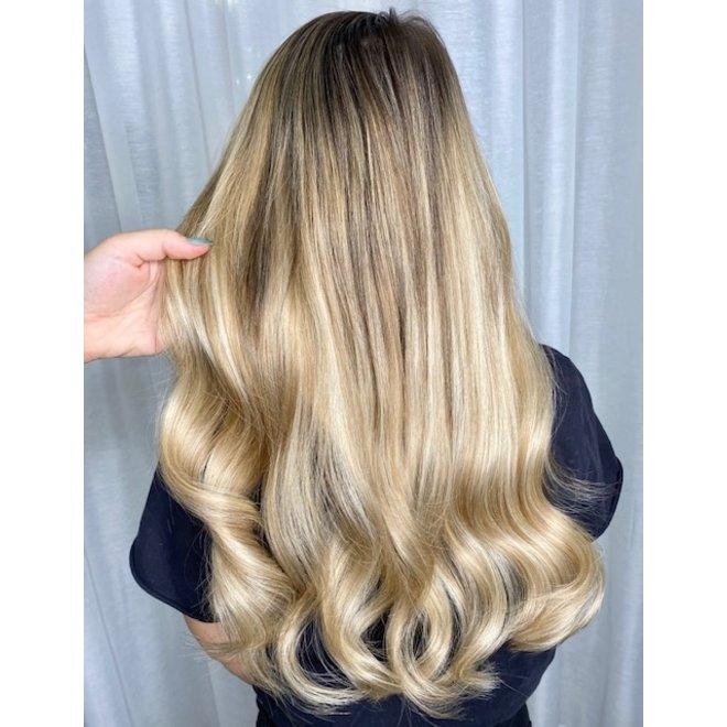 """Extensions à microanneaux Blond Balayage Doré 20"""""""