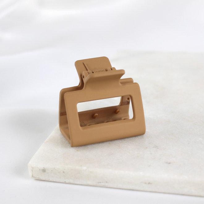 Pince à cheveux carré - Sable mat