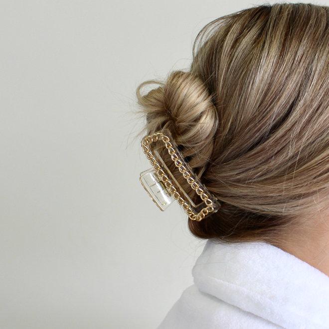 Pince à cheveux avec chaîne - Clair