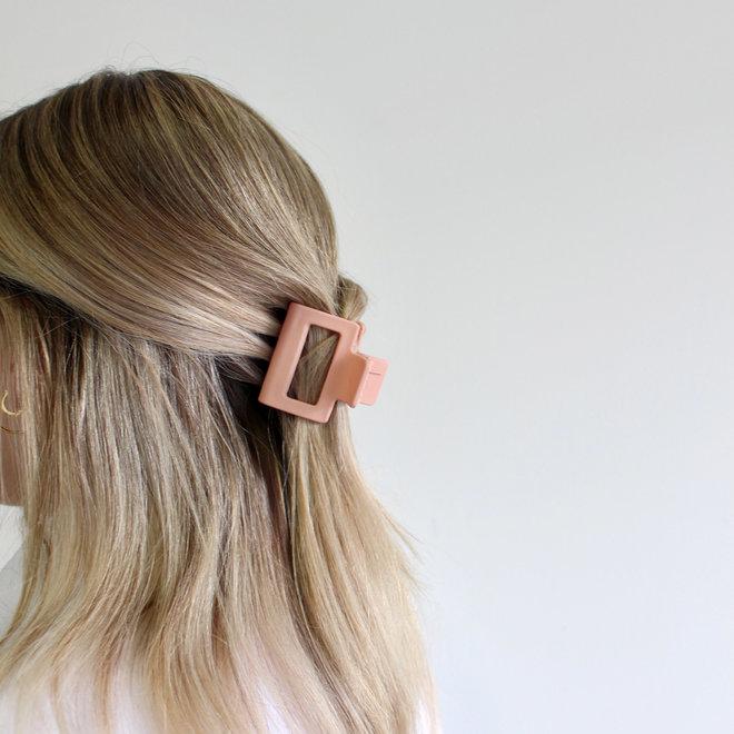 Pince à cheveux carrée - Rose cosmétique mat