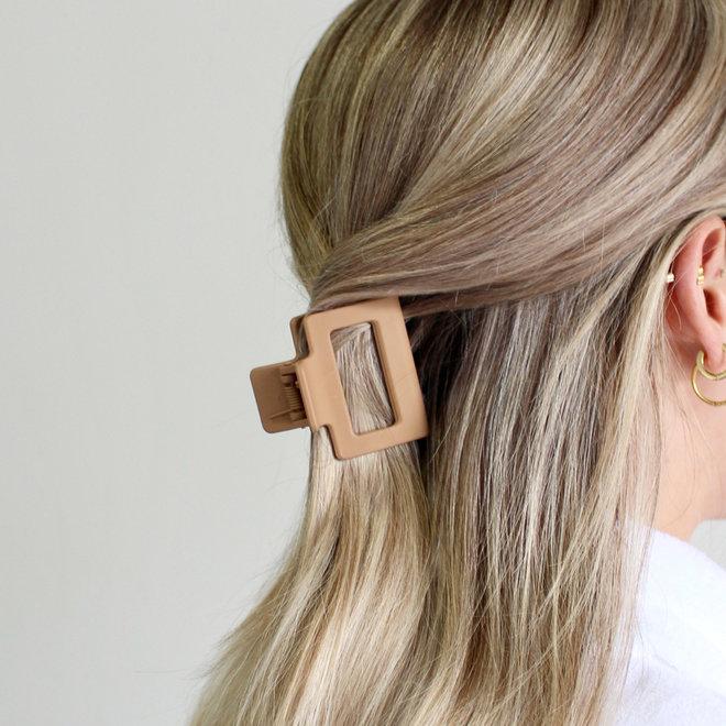 Pince à cheveux carrée - Sable mat