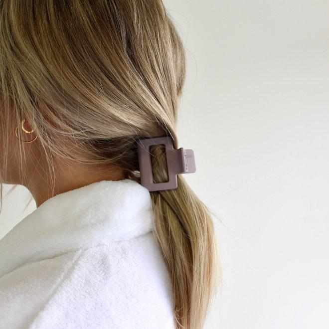 Pince à cheveux carrée - Lilas mat