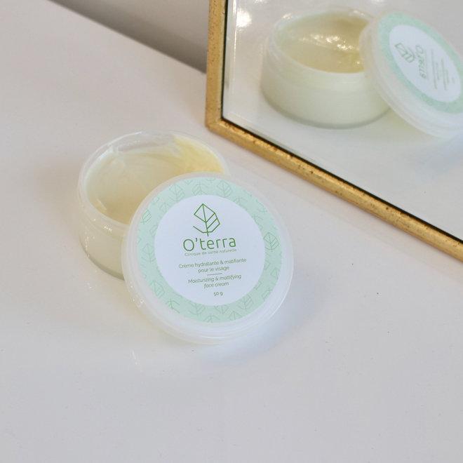 Crème hydratante et matifiante pour visage - 50g