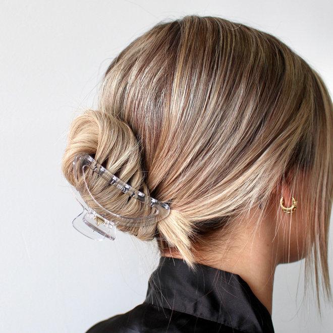 Pince à cheveux lune - Transparent