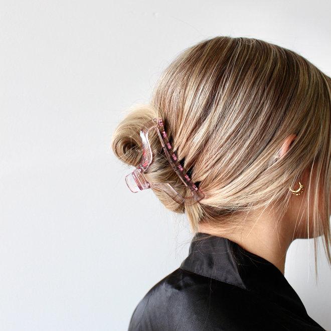 Pince à cheveux essentielle - Rose pâle