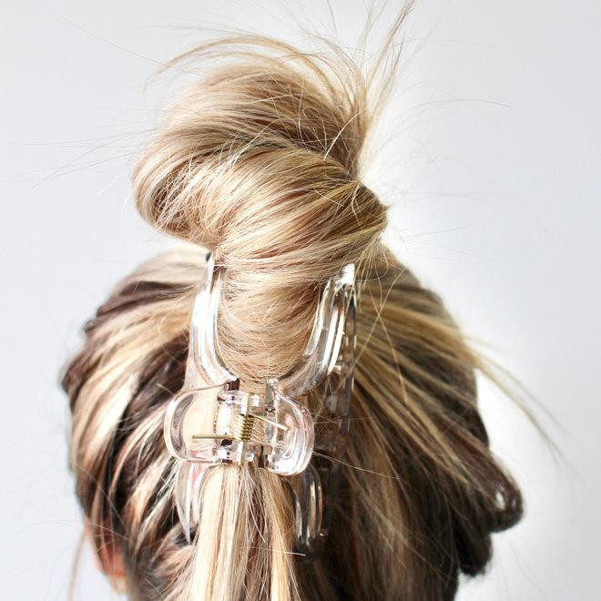 Pince à cheveux essentielle - Gris clair