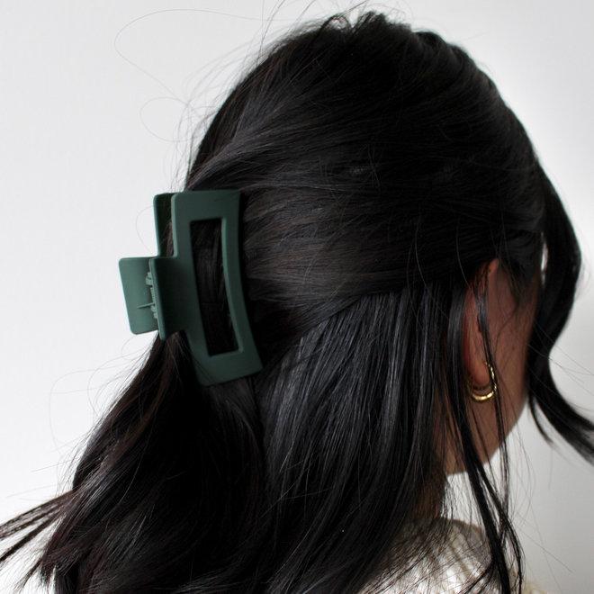 Pince à cheveux ajourée - Vert mat