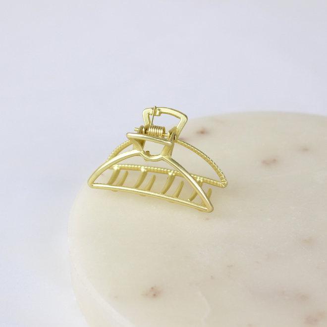 Mini pince à cheveux en métal Luna - Or