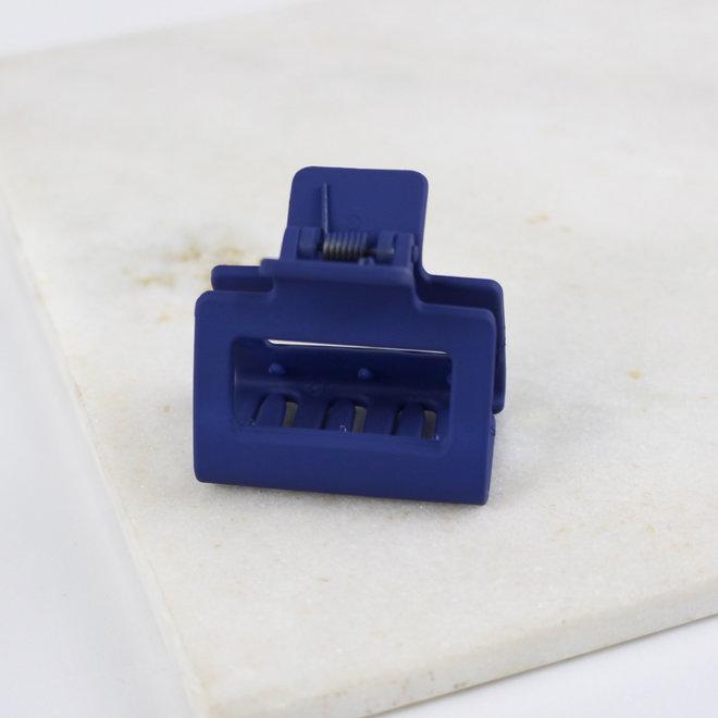 Pince à cheveux carrée - Bleu classique mat