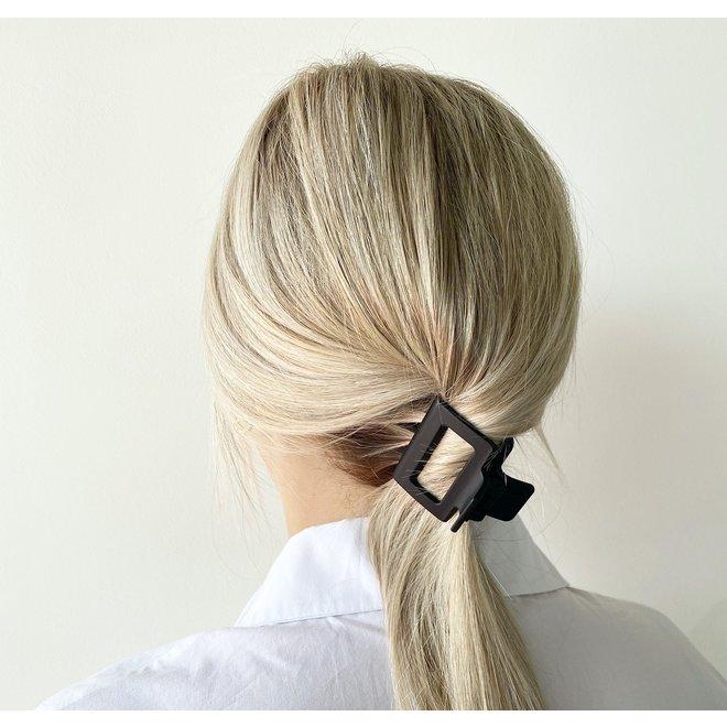 Pince à cheveux carrée - Noir mat