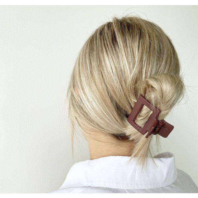 Pince à cheveux carrée - Cabernet mat