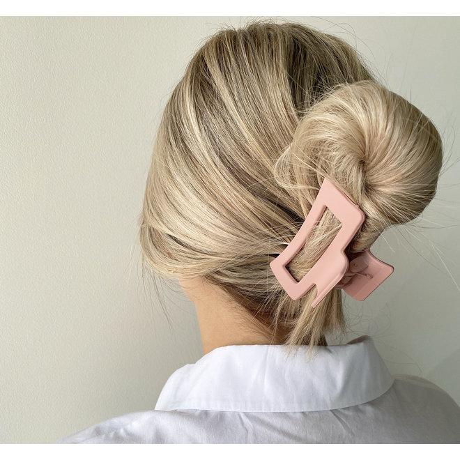 Pince à cheveux ajourée - Blush mat