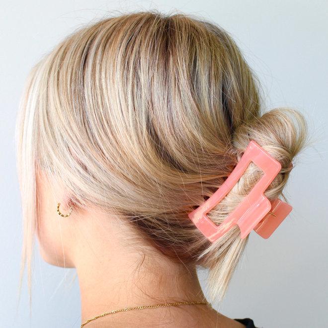 Pince à cheveux ajourée - Corail glossy
