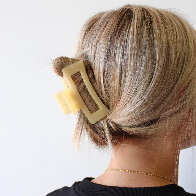 Pince à cheveux ajourée - Limoncello glossy