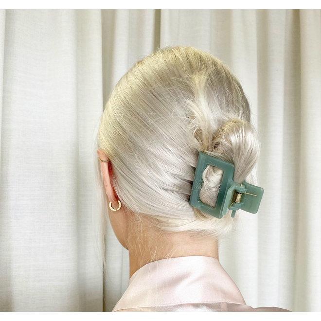 Pince à cheveux carrée - Sauge glossy
