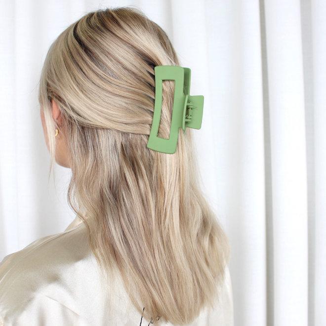 Pince à cheveux ajourée longue - Avocat mat