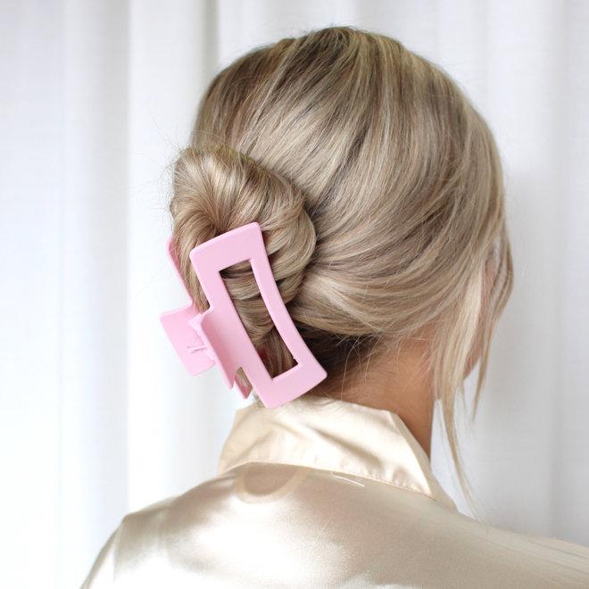 Pince à cheveux ajourée longue - Rose millénaire mat