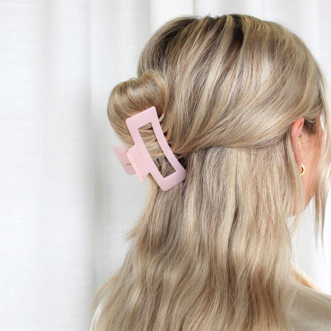 Pince à cheveux ajourée - Rose pâle glossy