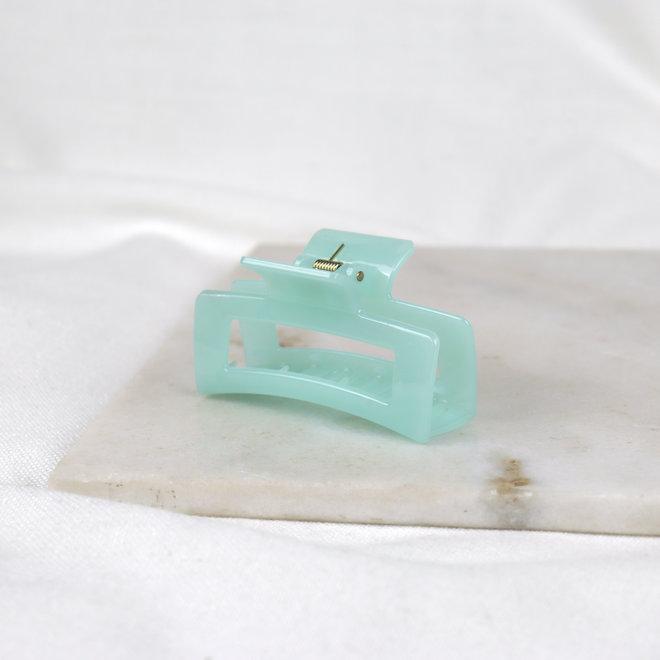 Pince à cheveux ajourée - Aquamarine glossy