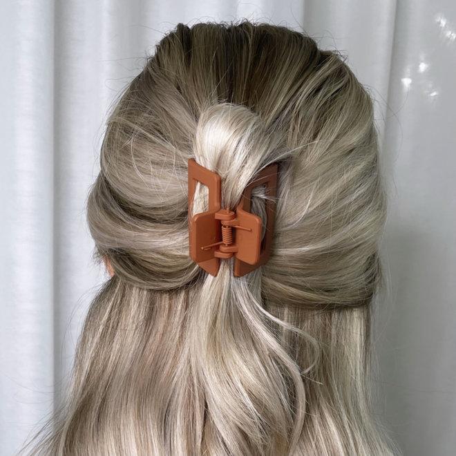 Pince à cheveux carrée - Terra Cotta mat