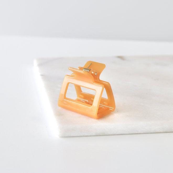 Pince à cheveux carrée - Tangerine glossy