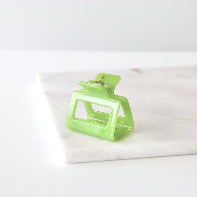 Pince à cheveux carrée - Vert moyen glossy