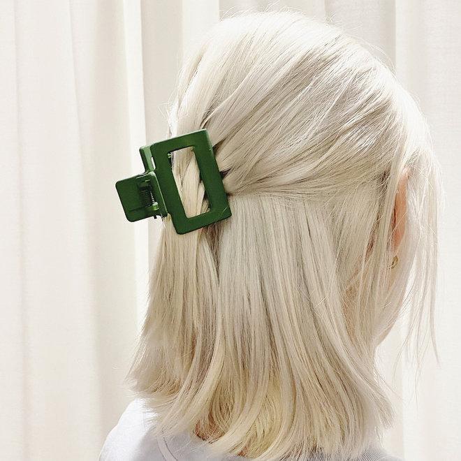 Pince à cheveux carrée - Kaki mat