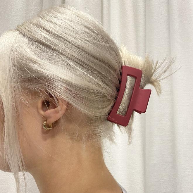Pince à cheveux ajourée - Pourpre mat