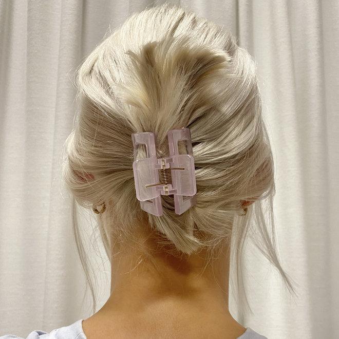 Pince à cheveux carrée - Lilas clair glossy