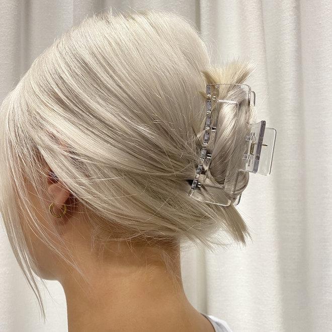 Pince à cheveux ajourée - Transparente glossy