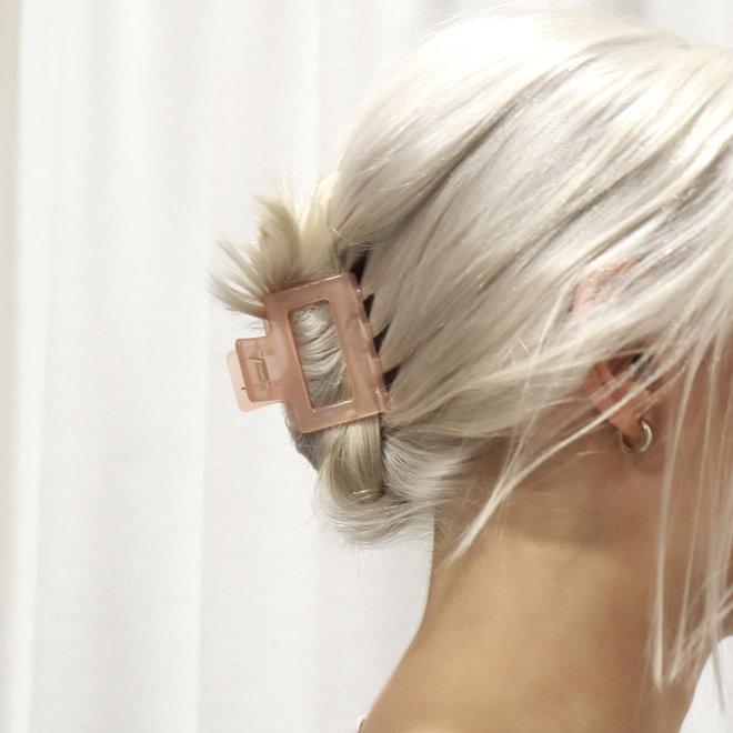 Pince à cheveux carrée - Saumon clair glossy