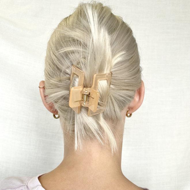 Pince à cheveux carrée - Clémentine clair glossy