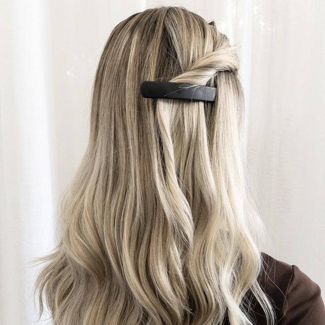 Barrette à cheveux la Dôme - Noir mat