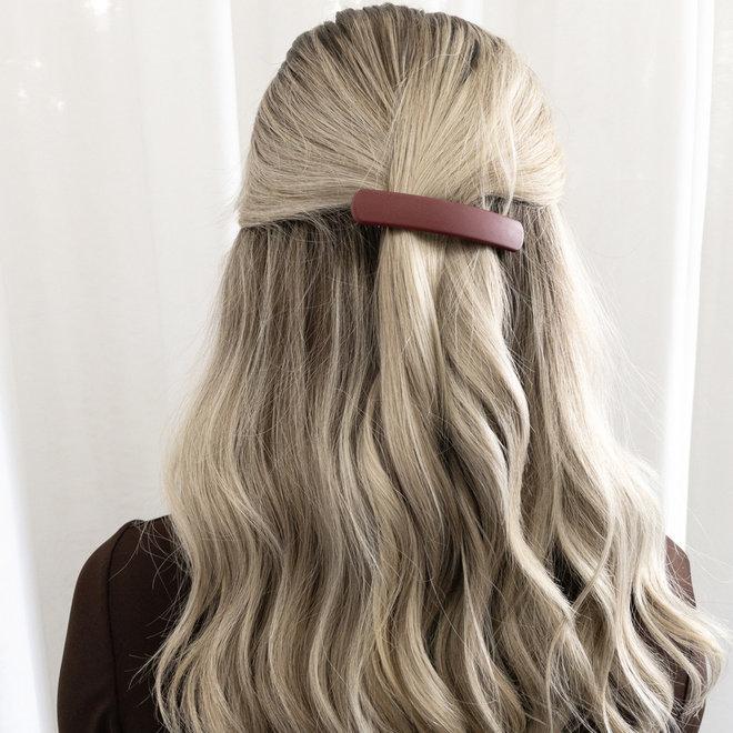 Barrette à cheveux la Dôme - Cabernet mat