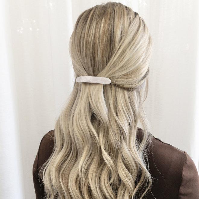 Barrette à cheveux la coupole - Blanc nacré