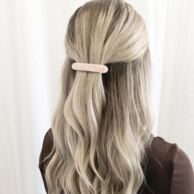 Barrette à cheveux la coupole - Rose nacré