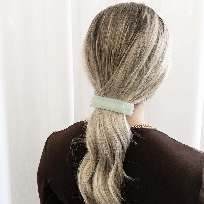 Barrette à cheveux  la voute rectangulaire - Argile