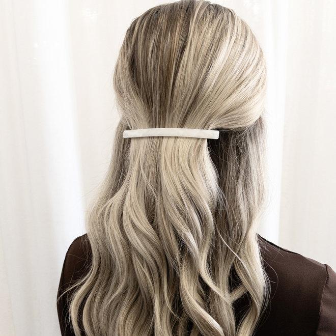 Ensemble de 2 barrettes à cheveux  longue - La tige tortoise & blanc nacré