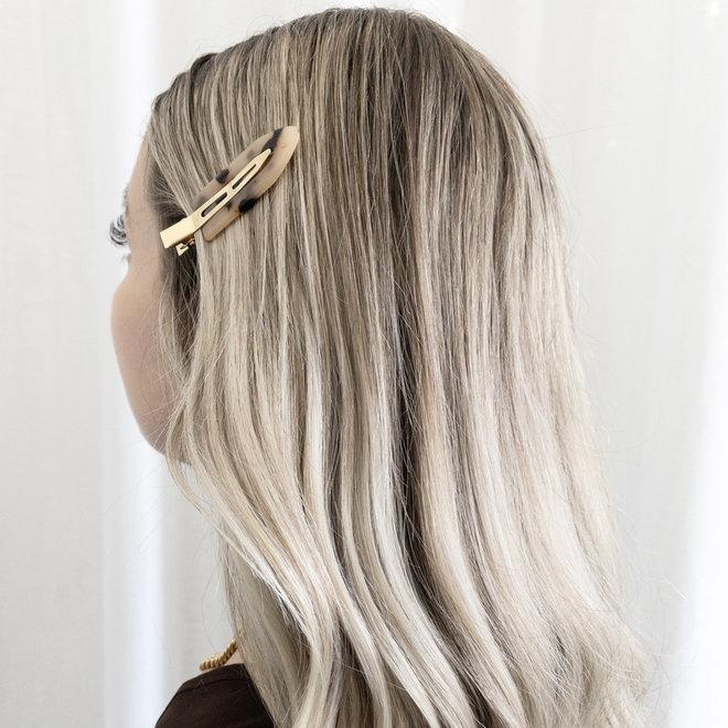 Ensemble de 2 pinces à cheveux plate - Les palettes tortoise