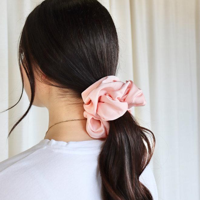 Chouchou en térylène - Rose pâle