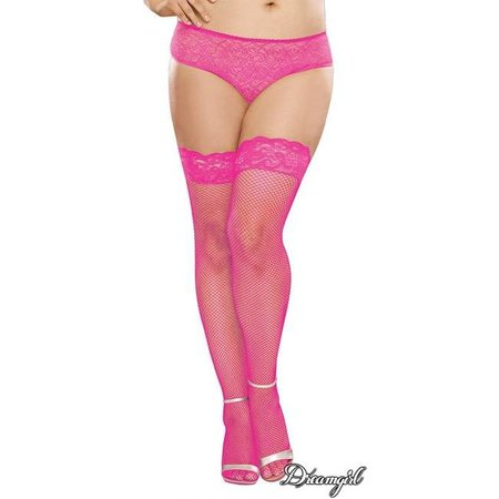 "Dreamgirl Dreamgirl ""Milan"" Neon Fishnet Stocking with Back Seam OSX"