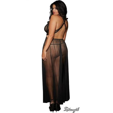 Dreamgirl Dreamgirl Sheer Mesh Grecian-Style Gown OSX