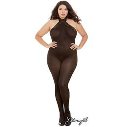 Dreamgirl Sheer Halter Bodystocking OSX
