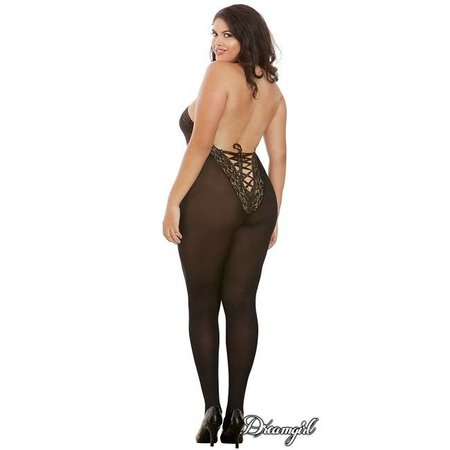Dreamgirl Dreamgirl Sheer Halter Bodystocking OSX