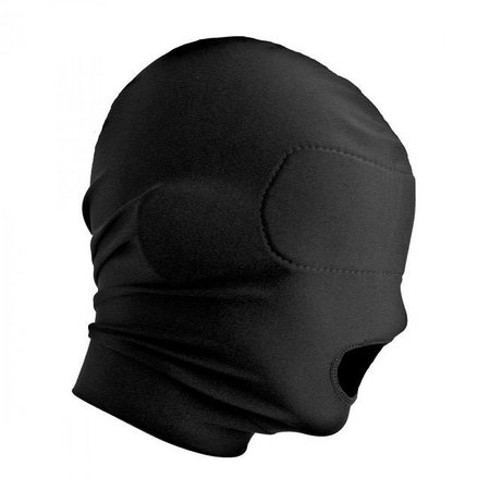 Master Series Master Series Disguise Open Mouth Hood with Padded Blindfold