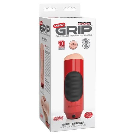Pipedream Extreme Pipedream Extreme Mega Grip Vibrating Stroker Mouth