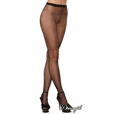 Dreamgirl Sheer Open Crotch Pantyhose OS
