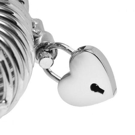 Heart Shaped Nickel Polished Padlock