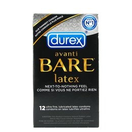 Durex Avanti Bare Latex Condoms 12 Pack